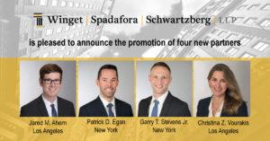 Winget, Spadafora & Schwartzberg, LLP Promotes Four New Partners