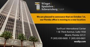 Winget, Spadafora & Schwartzberg's Florida Office Has Relocated